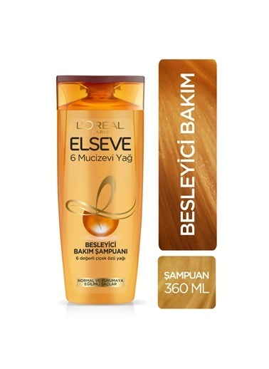 L'Oréal Paris Elseve 6 Mucizevi Yağ Besleyici Bakım Şampuanı 360 Ml Renkli